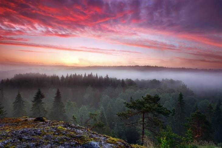 finlandiya gün batımı