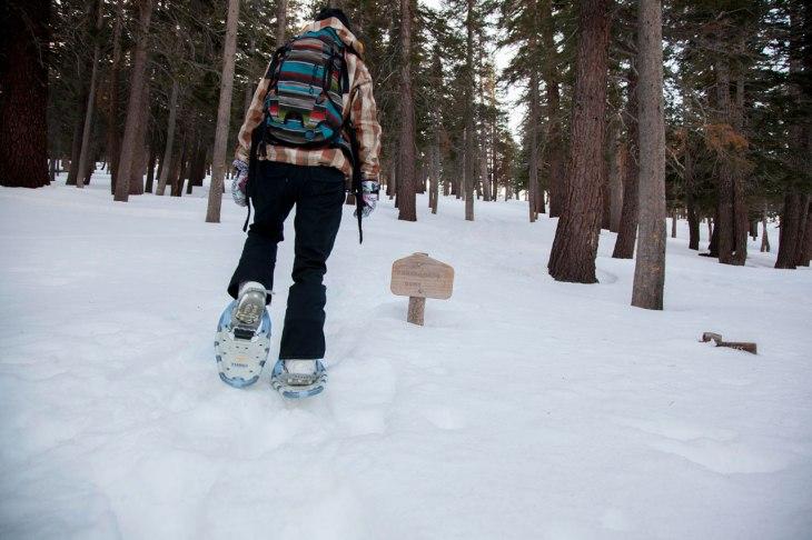 kar yürüyüşü snowshoeing